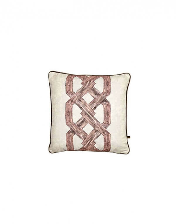 Aluro Cushion Pink by Eva Sonaike at RenkoLondon